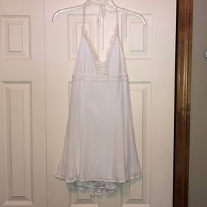 White Halter Sundress